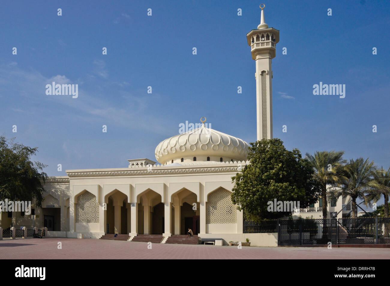 Mosque in Bastakia Quarter of Old Dubai, United Arab Emirates Stock Photo