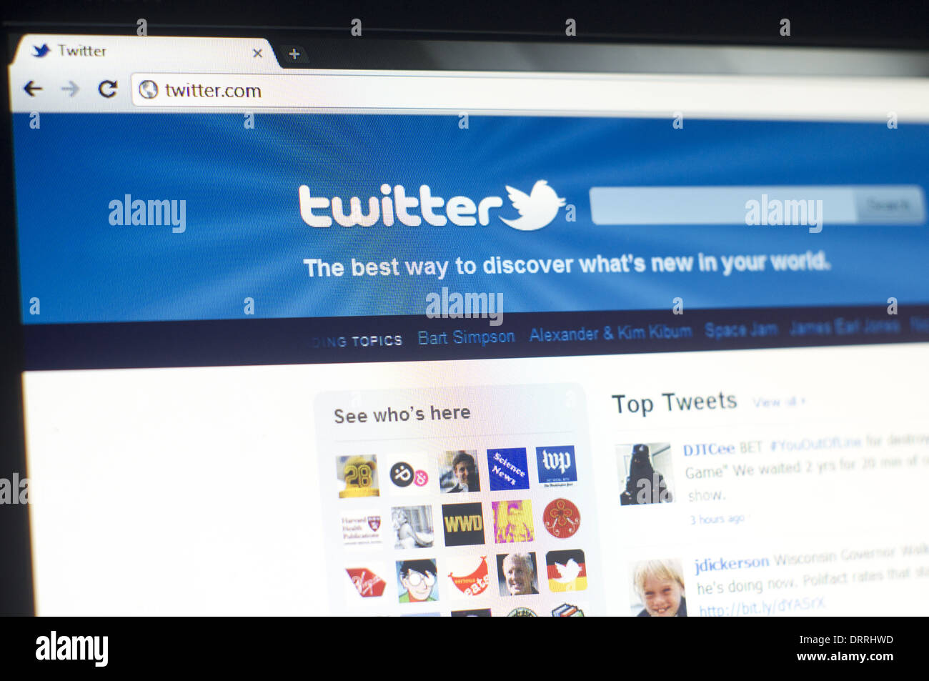 twitter login page Stock Photo   Alamy
