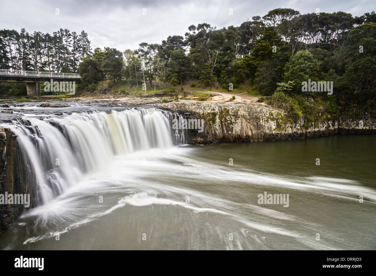 Haruru Falls on the Waitangi River in the Bay of Islands, Northland, New Zealand. Stock Photo
