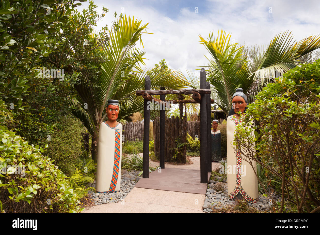 Auckland Botanic Gardens, the Mythological Maze of Maui Stock Photo ...