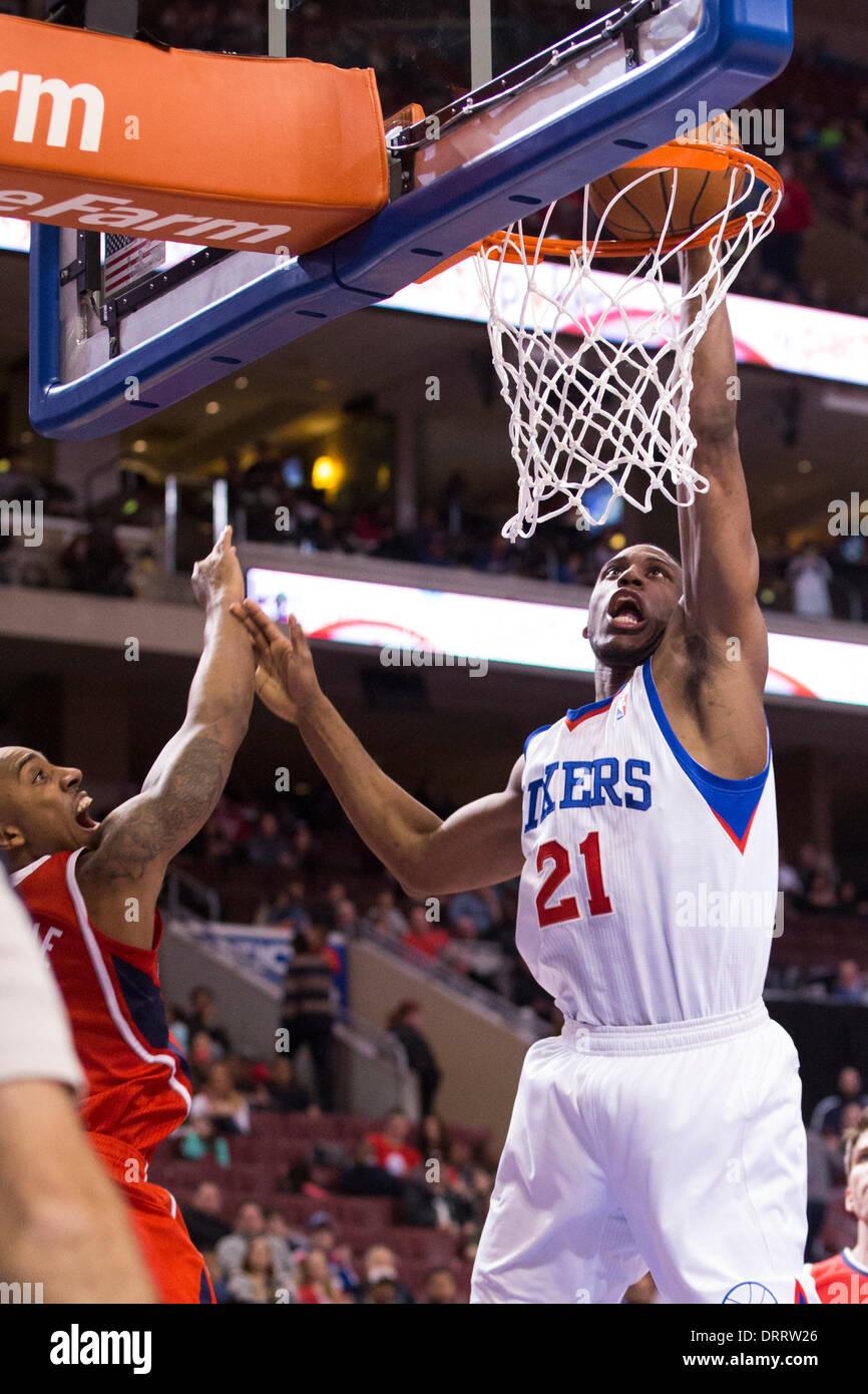 January 31 2014 Philadelphia 76ers Power Forward Thaddeus Young