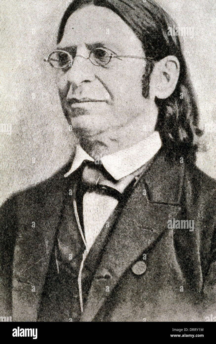 Abraham Geiger 1810-1874 Was German Rabbi Who Led Founding Of Reform Judaism - Stock Image