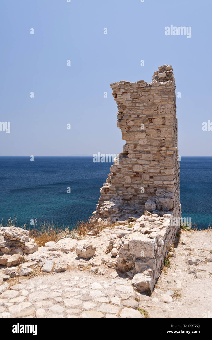 Ancient remains on Samos - Stock Image