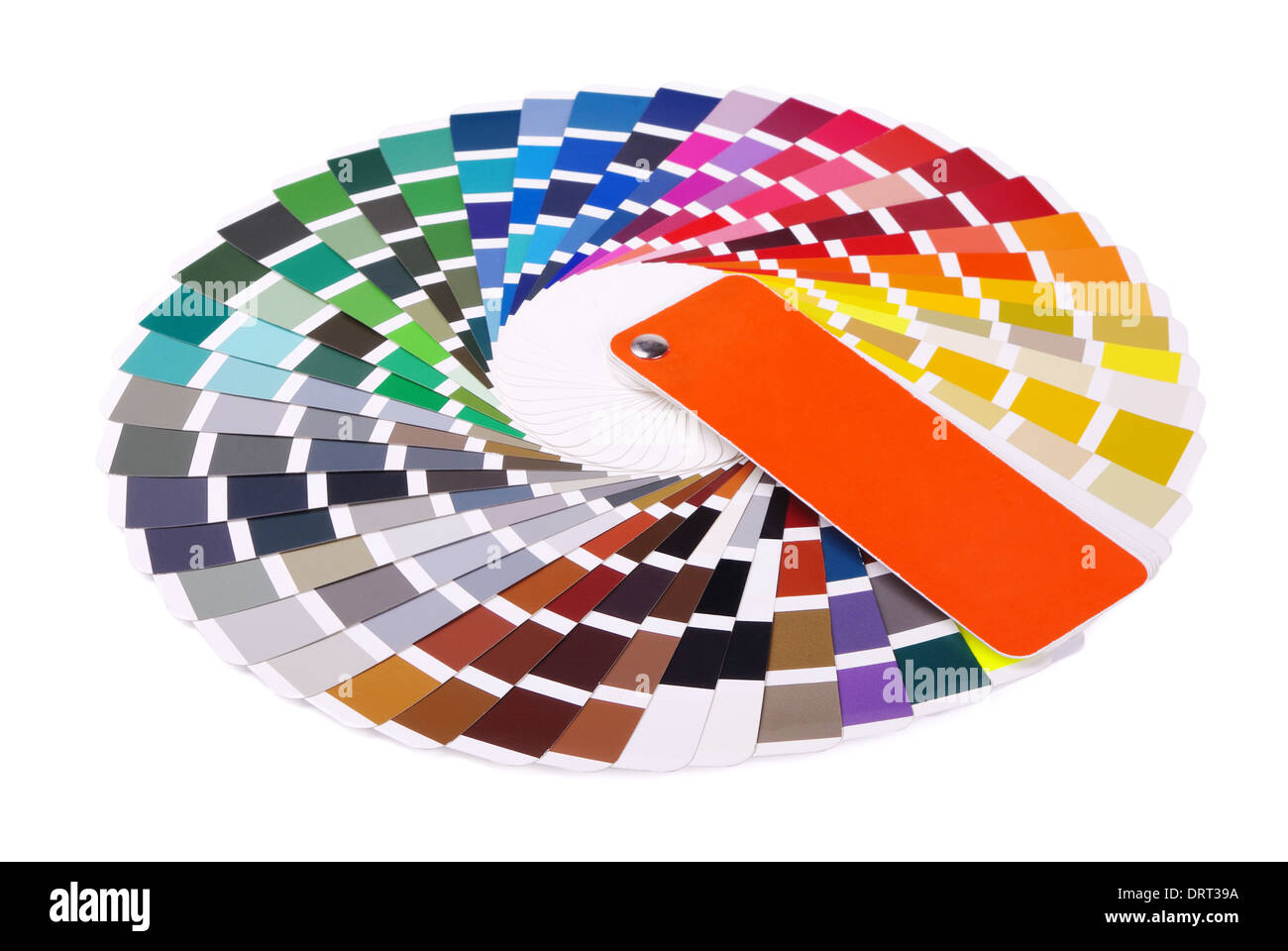Colour card on a white background - Stock Image
