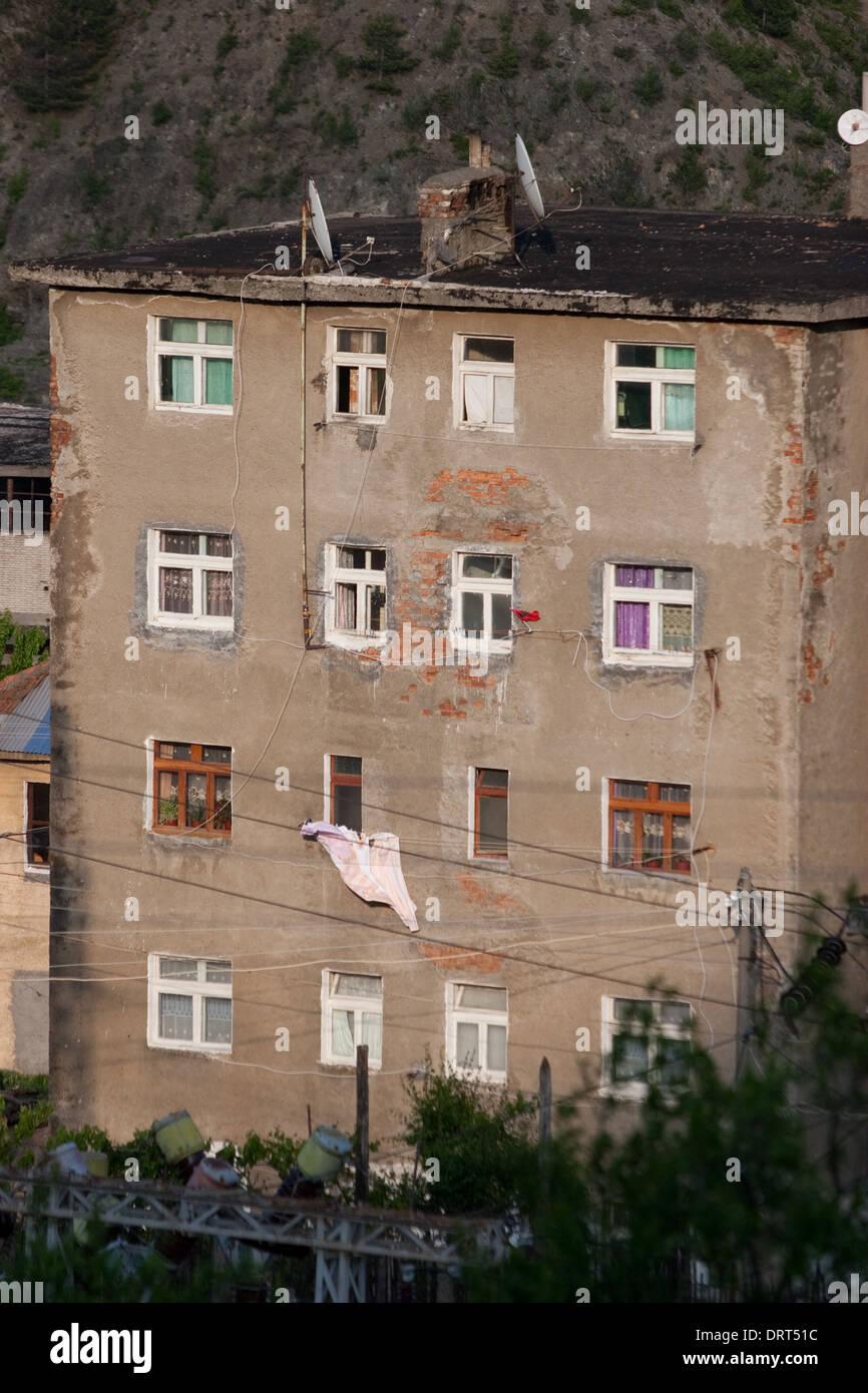 'Palates', Living Houses of the poor albanian people, Fushe Arrez, Albania - Stock Image
