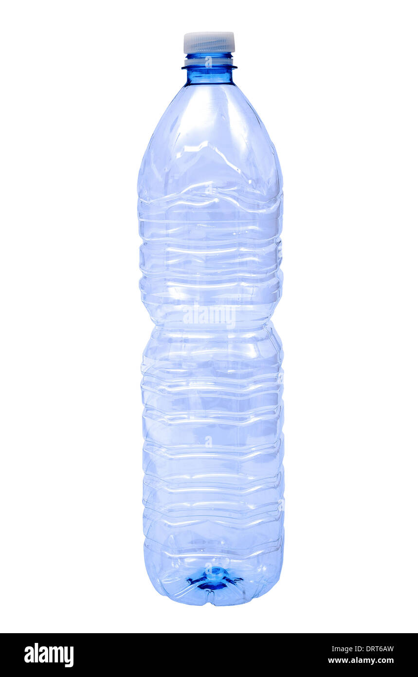 Water bottle isolated on white - Stock Image