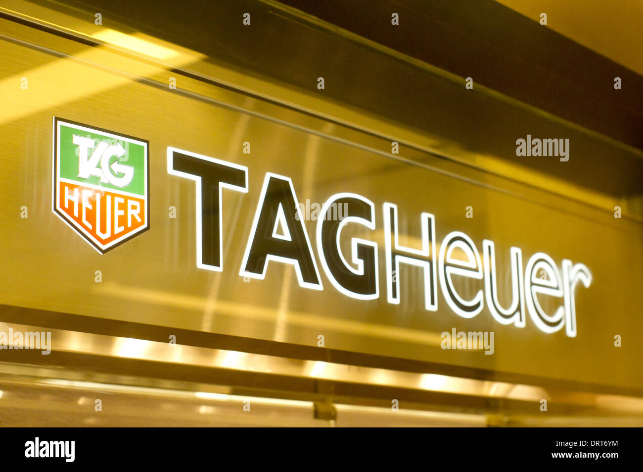 Tag Heuer store sign - Stock Image