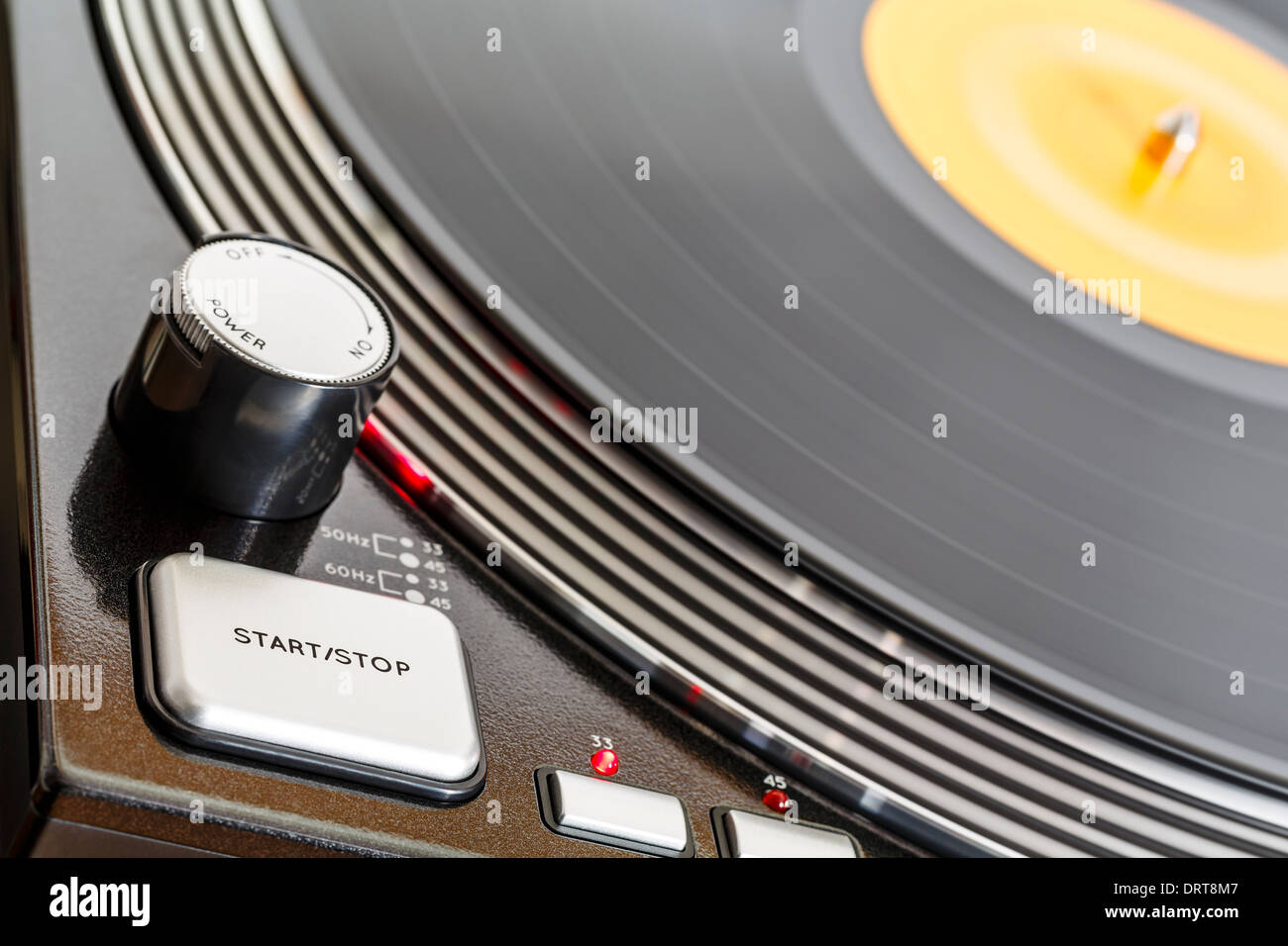 Turntable rotates Stock Photo