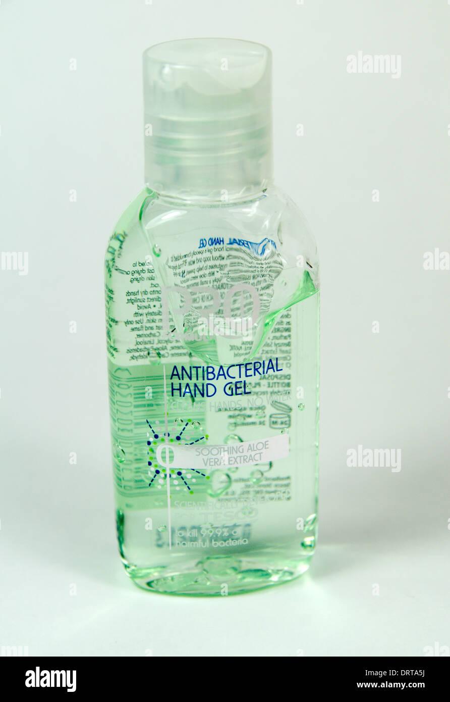 Bottle of antibacterial hand gel - Stock Image
