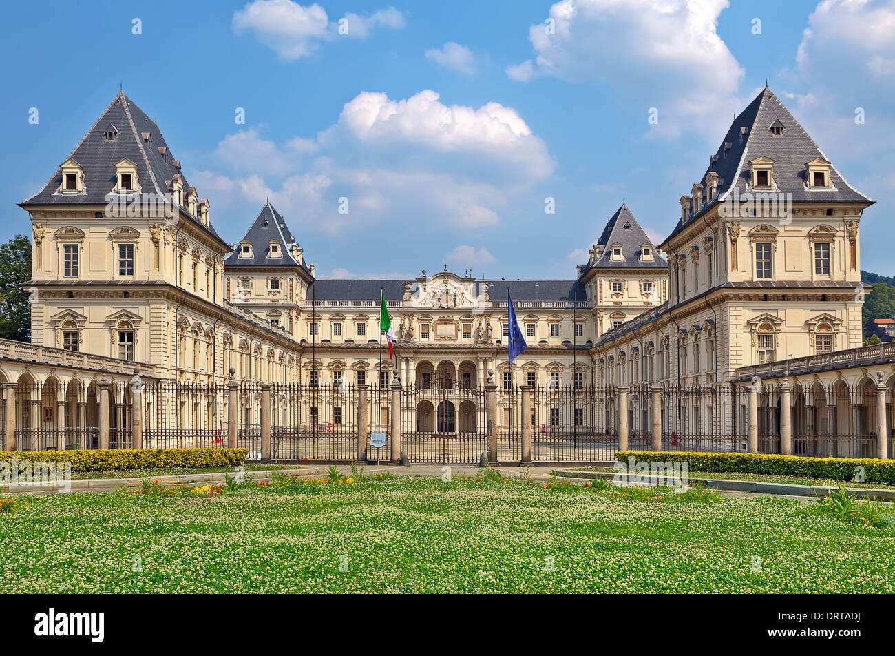 Valentino Castle - former residence of Royal House of Savoy in Turin, Italy. - Stock Image