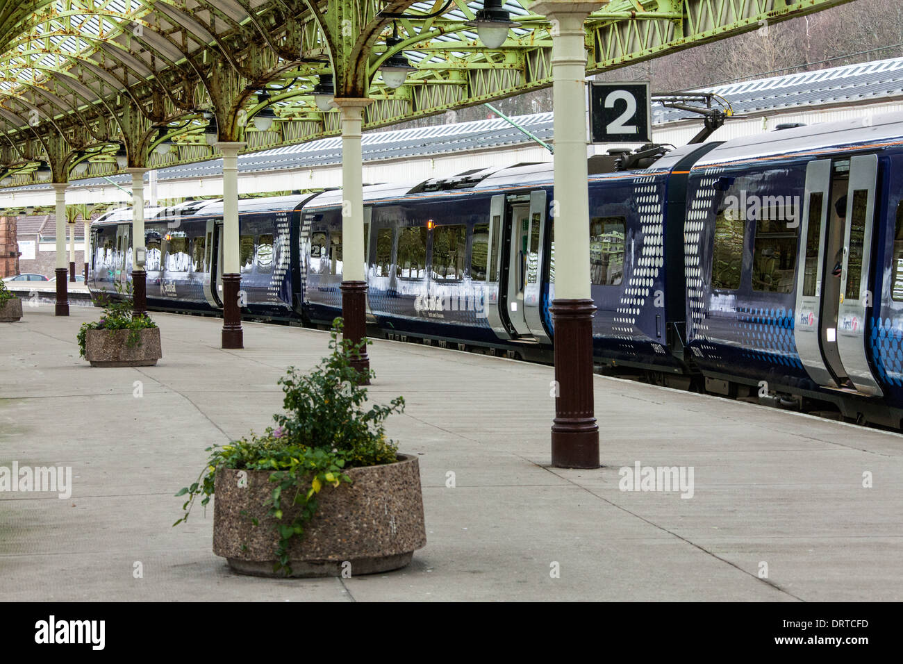 Scotrail Class 380 010 Electric Multiple Unit, Wemyss Bay Rail Station, Inverclyde, Scotland - Stock Image
