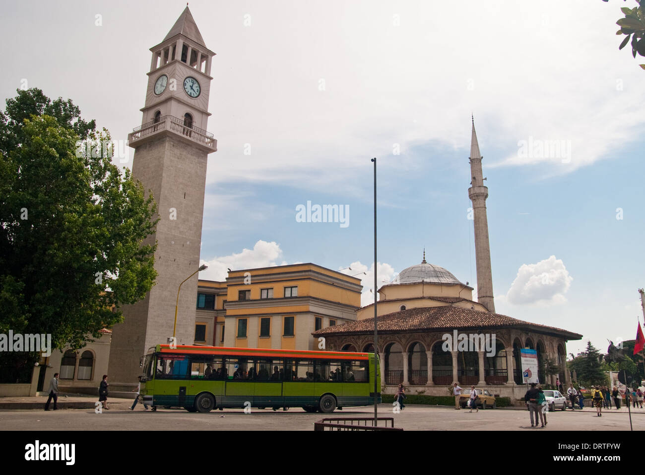 Ethem Bey Mosque, Tirana, Albania Stock Photo