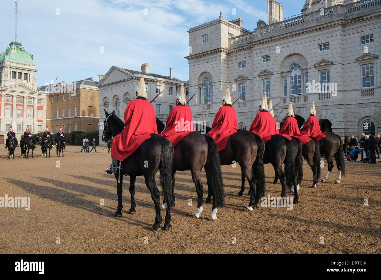 Lifeguards cavalry regiment at changing of the guard ceremony Horse Guards Parade London UK Stock Photo