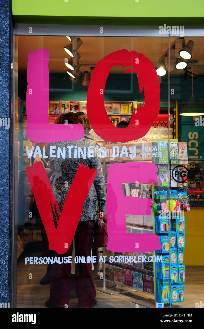Greeting cards shopvalentines day advertnottinghamuk stock photo greeting cards shopvalentines day advertnottinghamuk m4hsunfo