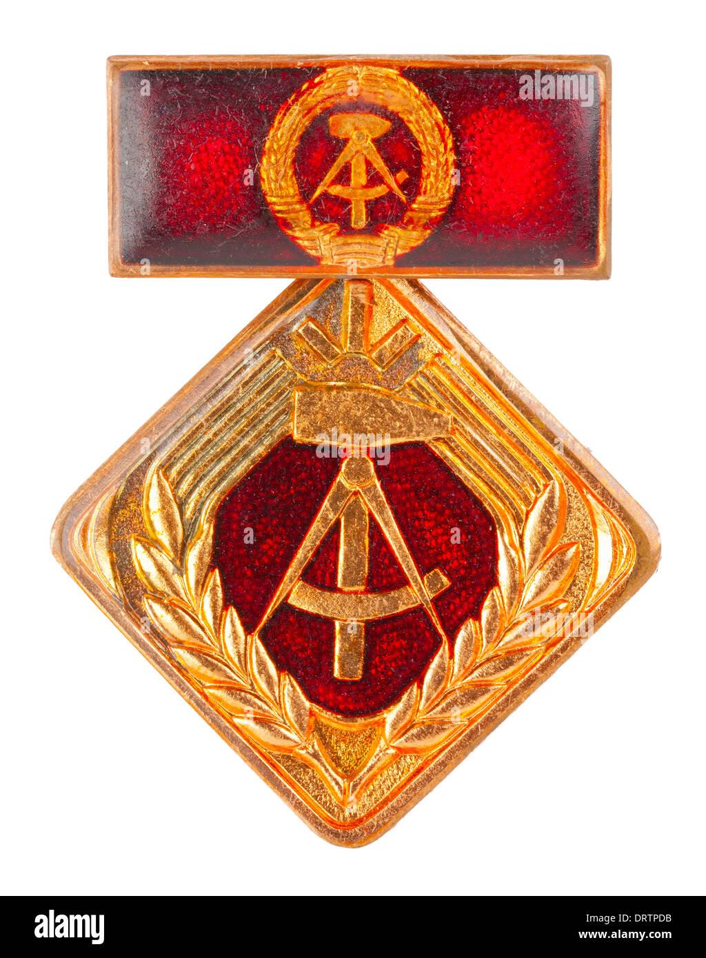 GDR (DDR) medal 'Activist of the socialist work' ('Aktivist der sozialistischen Arbeit'), 1969 - Stock Image