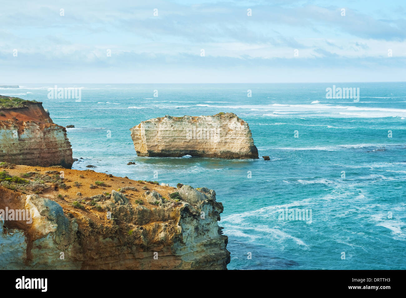 One of the famous rocks in the Bay of Islands Coastal Park,Great Ocean Road, Australia - Stock Image