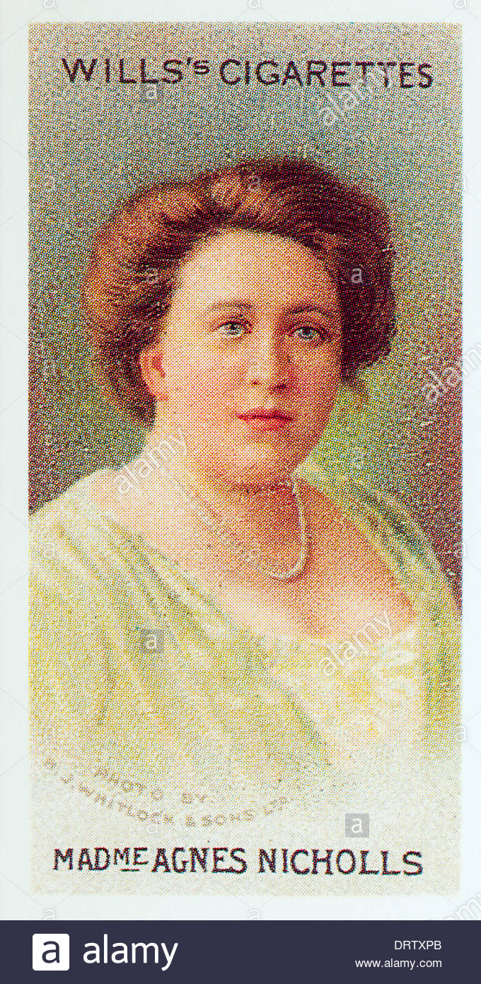 Wills Cigarette card second series Musical Celebrities the singer Madame Agnes Nicholls EDITORIAL ONLY - Stock Image