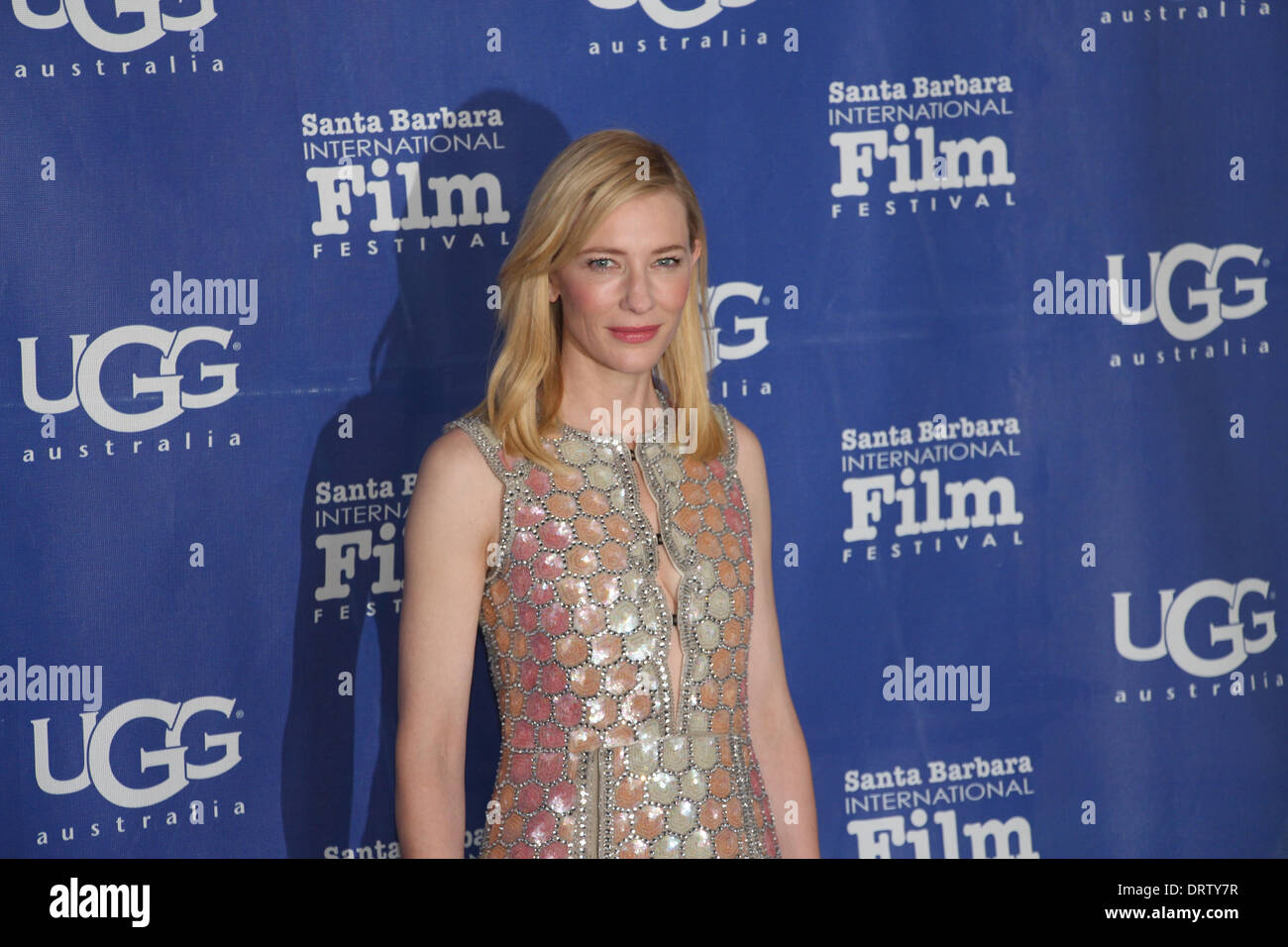 1st Feb, 2014 The Santa Barbara International Film Festival presents  actress Cate Blanchett with the c4e6e05ac974