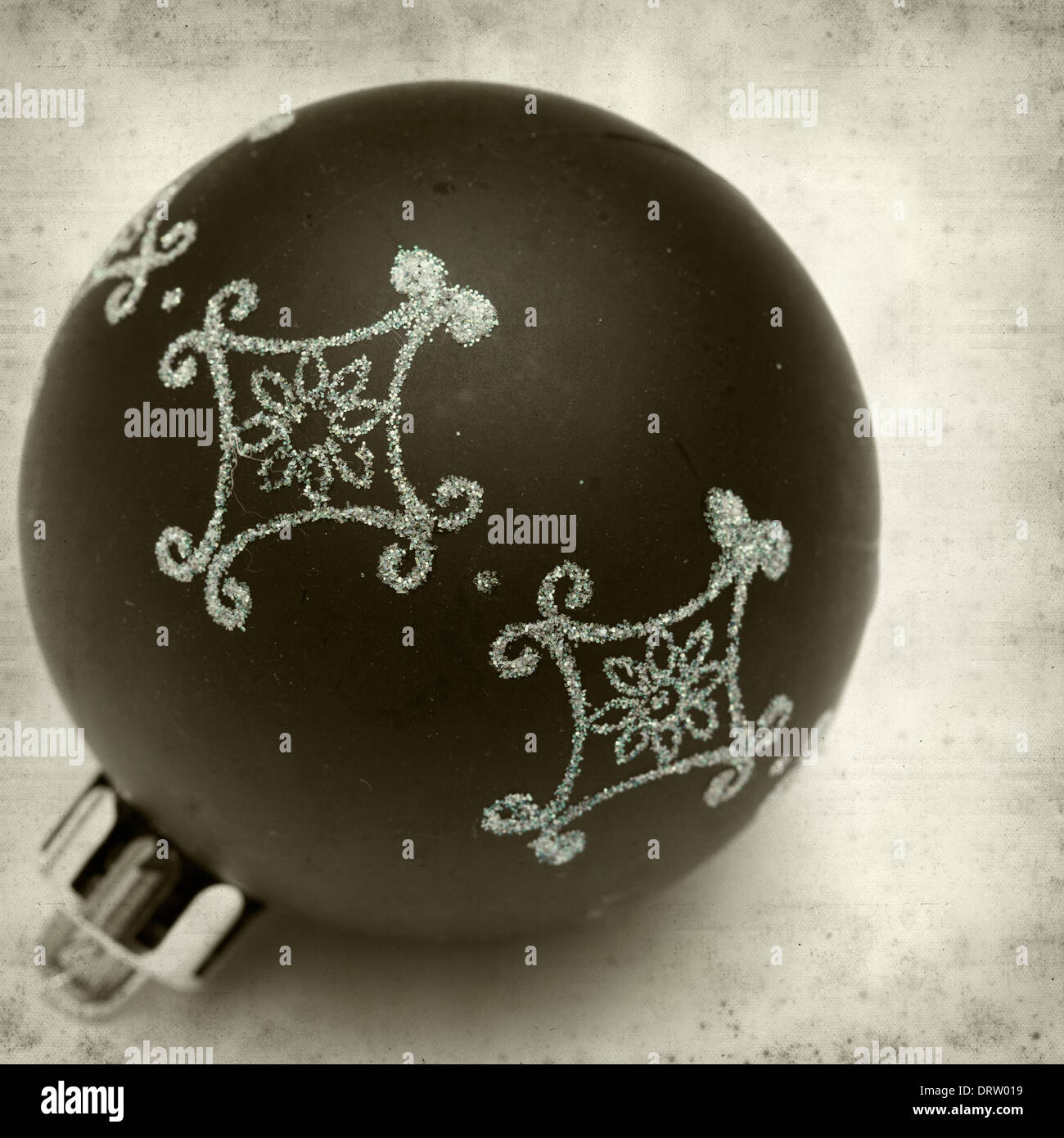 Textured Old Paper Background With Christmas Decorations