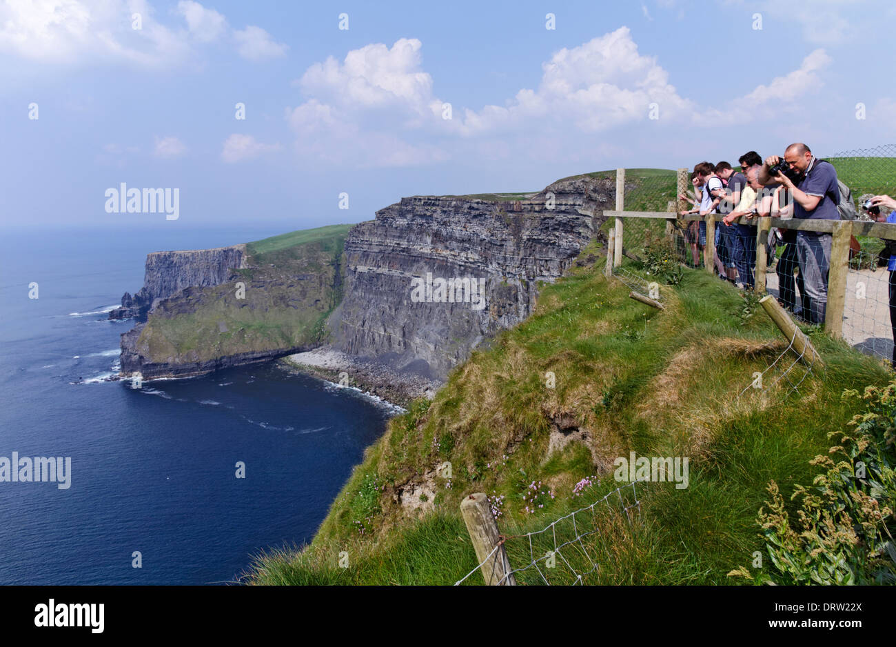 The cliffs of Moher in County Clare Ireland - Stock Image