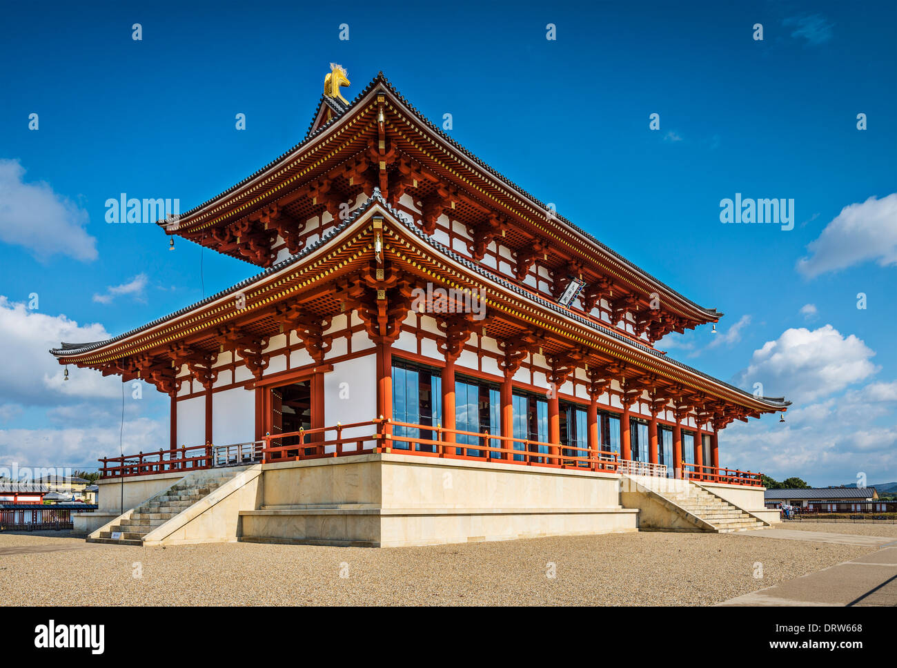 Nara, Japan at Heijo Palace. The site served as the Imperial Palace of Japan from 710-784 AD. - Stock Image