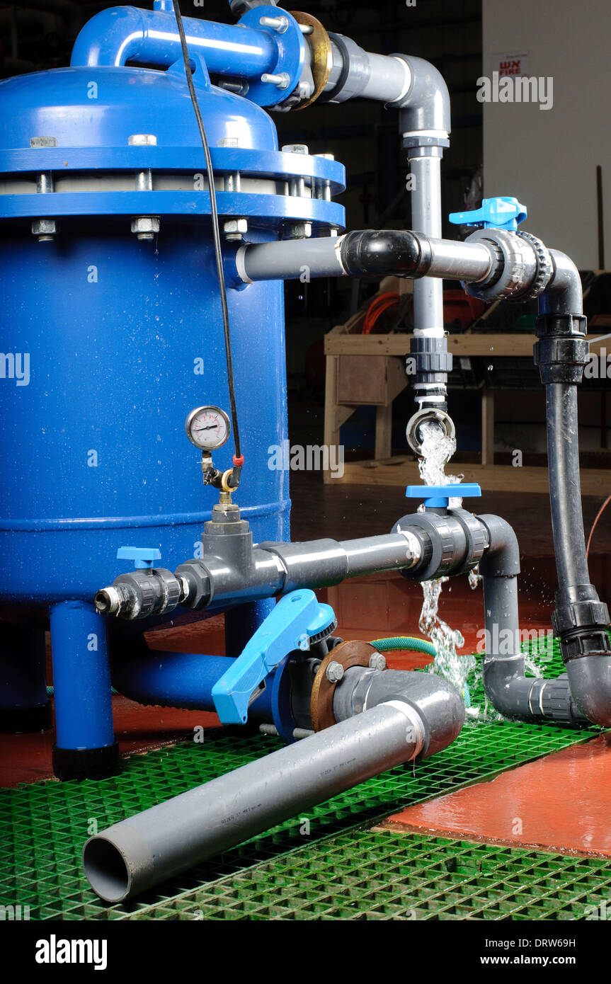 Water purification system. - Stock Image