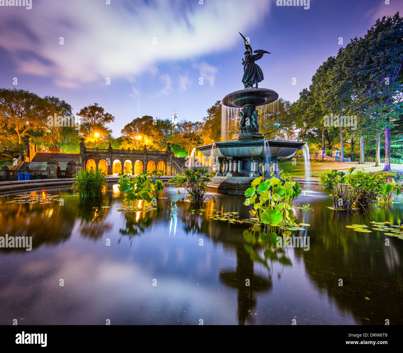 New York City at Bethesda Terrace in Central Park. - Stock Image