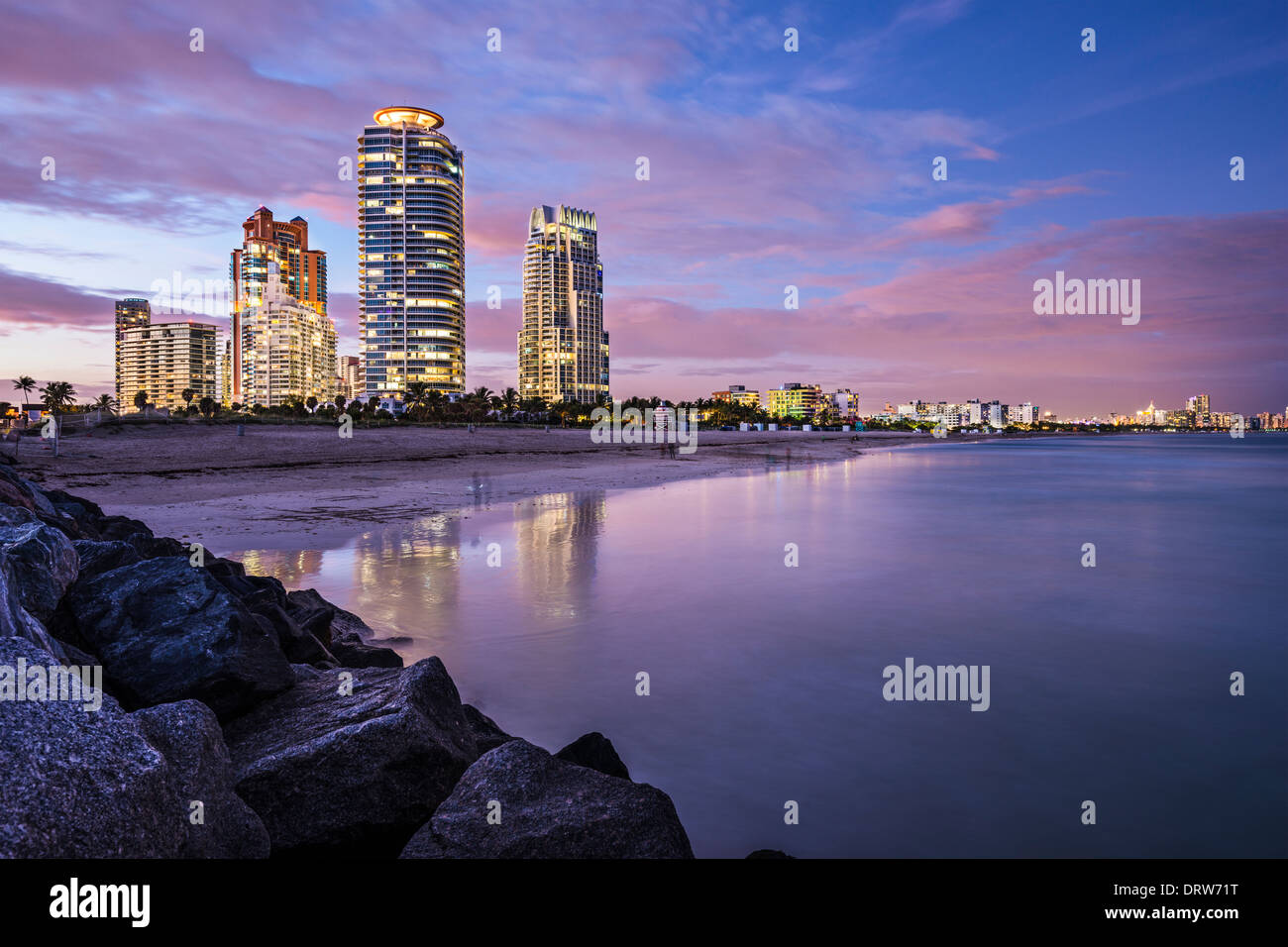 Miami, Florida at South Beach. - Stock Image