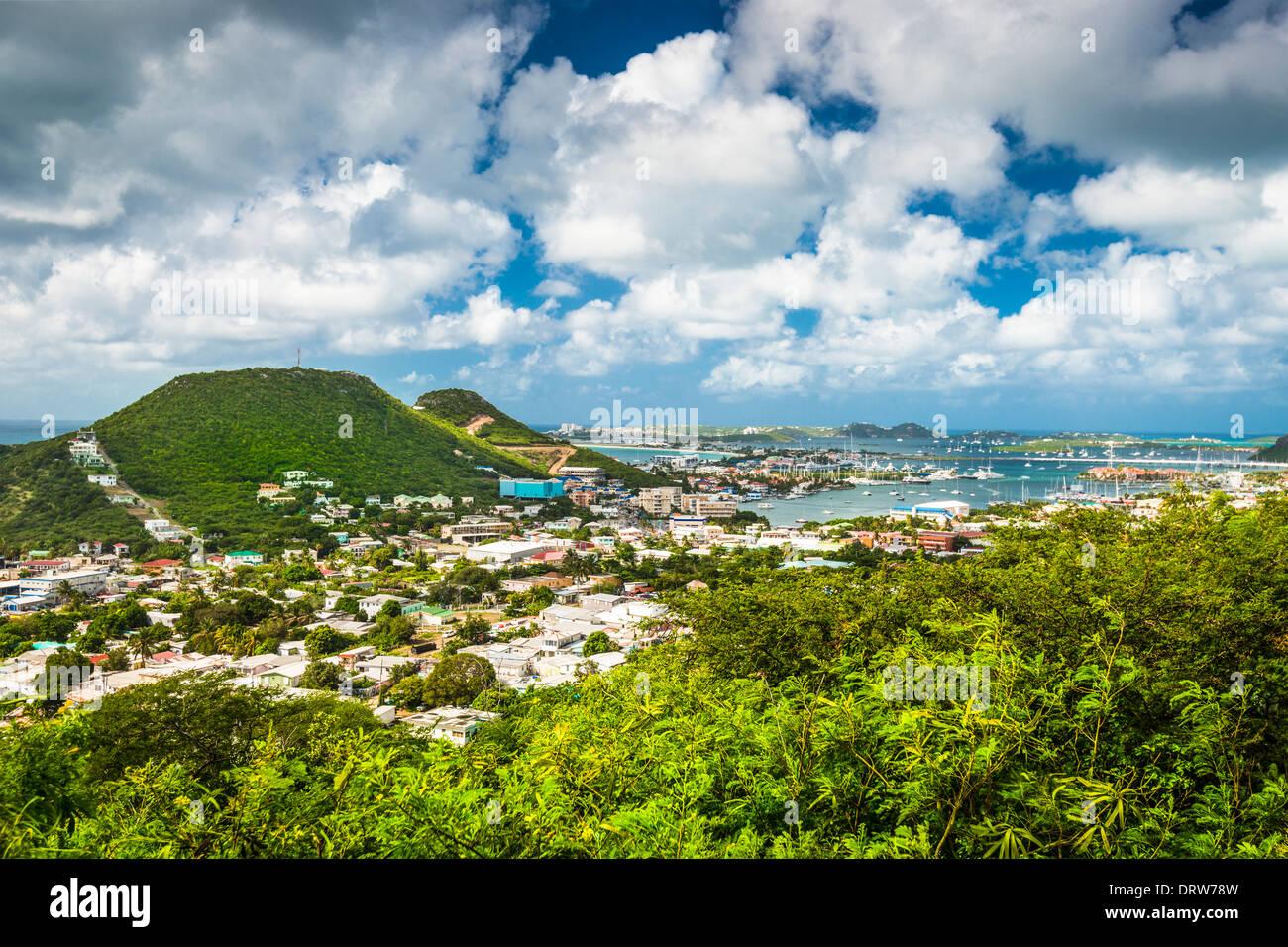 Philipsburg, Sint Maarten, Netherlands Antilles - Stock Image