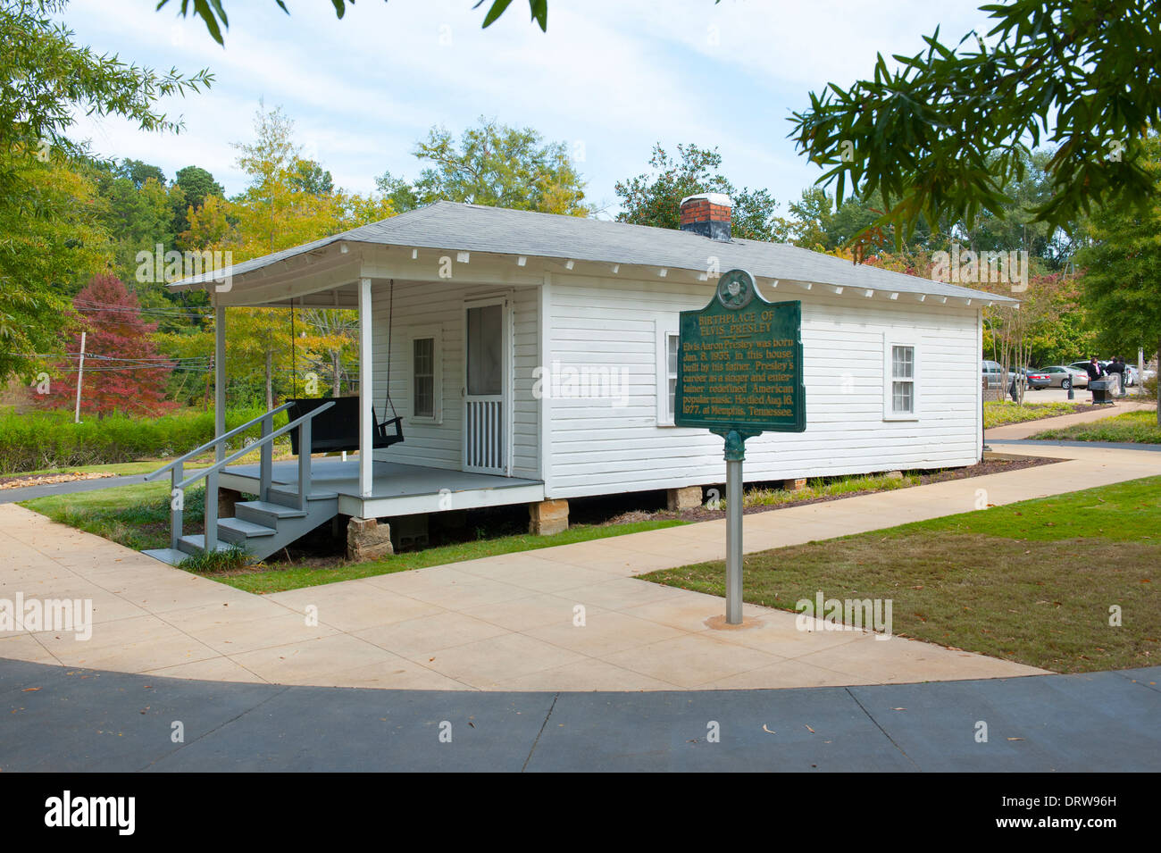 USA Mississippi MS Miss Tupelo Elvis Presley birthplace home birth - exterior of the original childhood home house - Stock Image