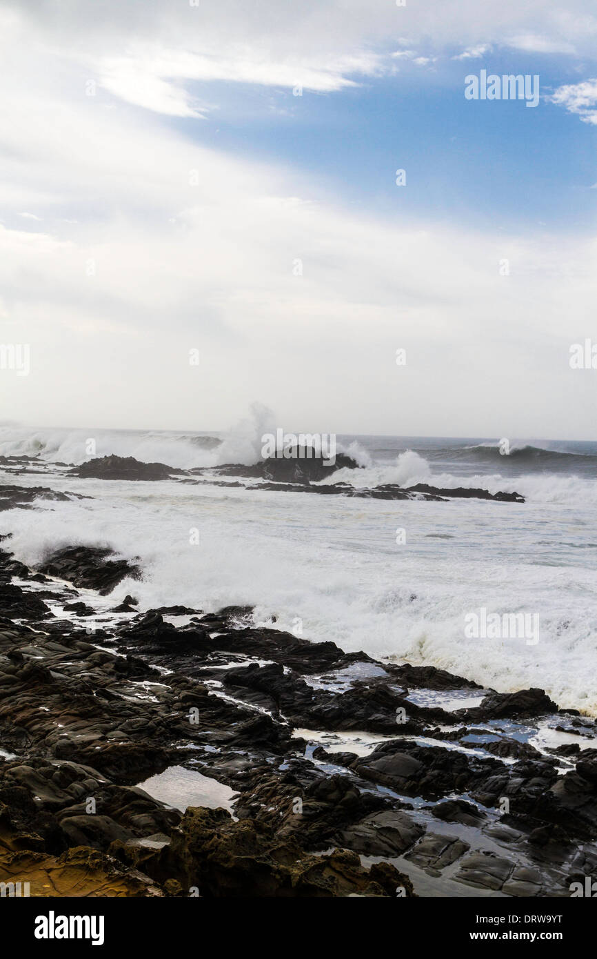 High Surf and Big Waves at Bean Hollow State Beach Along