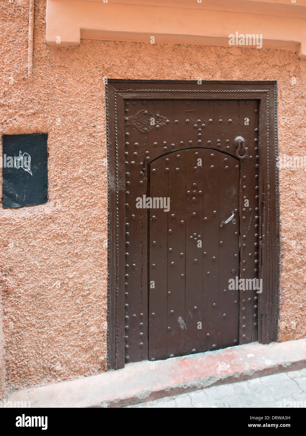 Old wooded door in the in the Mellah (Jewish) quarter of Marrakech - Stock & Jewish Quarter Door Stock Photos u0026 Jewish Quarter Door Stock Images ...