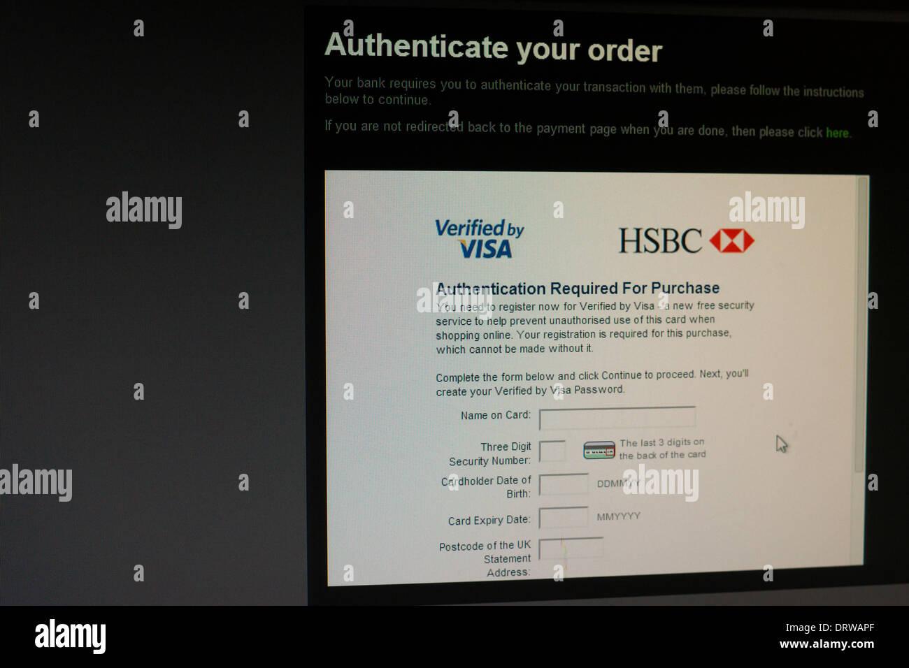 HSBC Visa credit debit card online protection Stock Photo: 66325463 ...