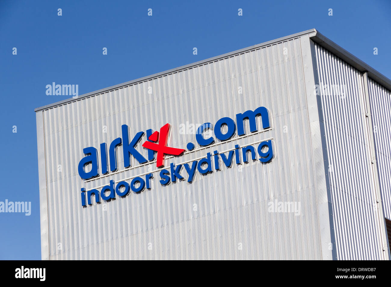 Airkix Inddor Skydiving centre in Trafford, Manchester - Stock Image