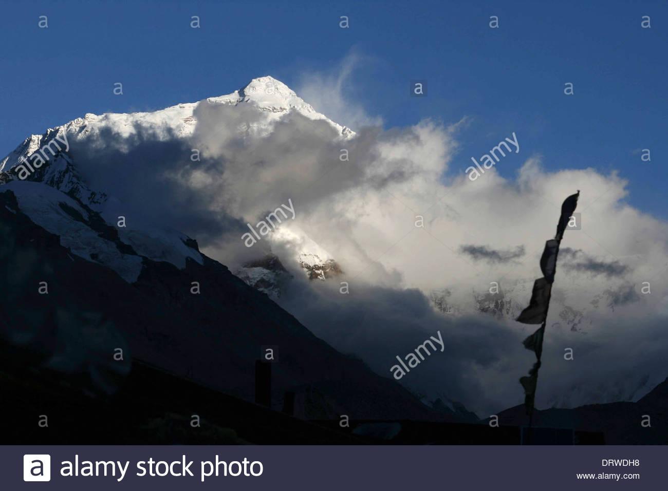 China Tibet Mt Everest - Stock Image