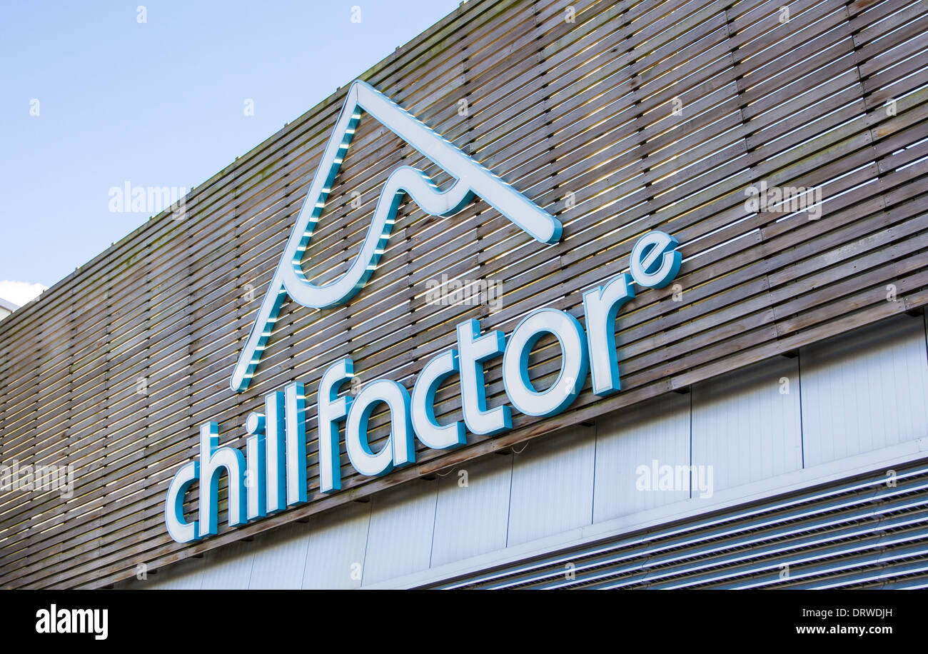 Chill Factor indoor ski centre in Manchester - Stock Image