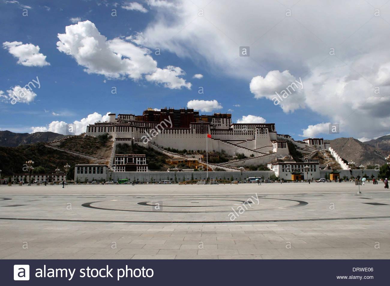 China Tibet Lhasa Potala Palace - Stock Image
