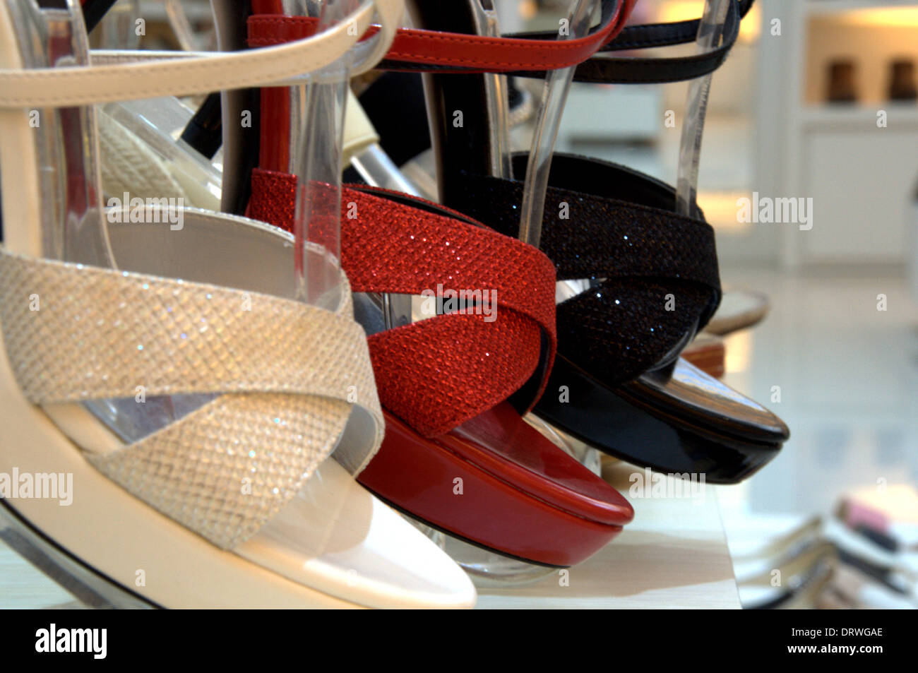 Ladies' high heels - Stock Image