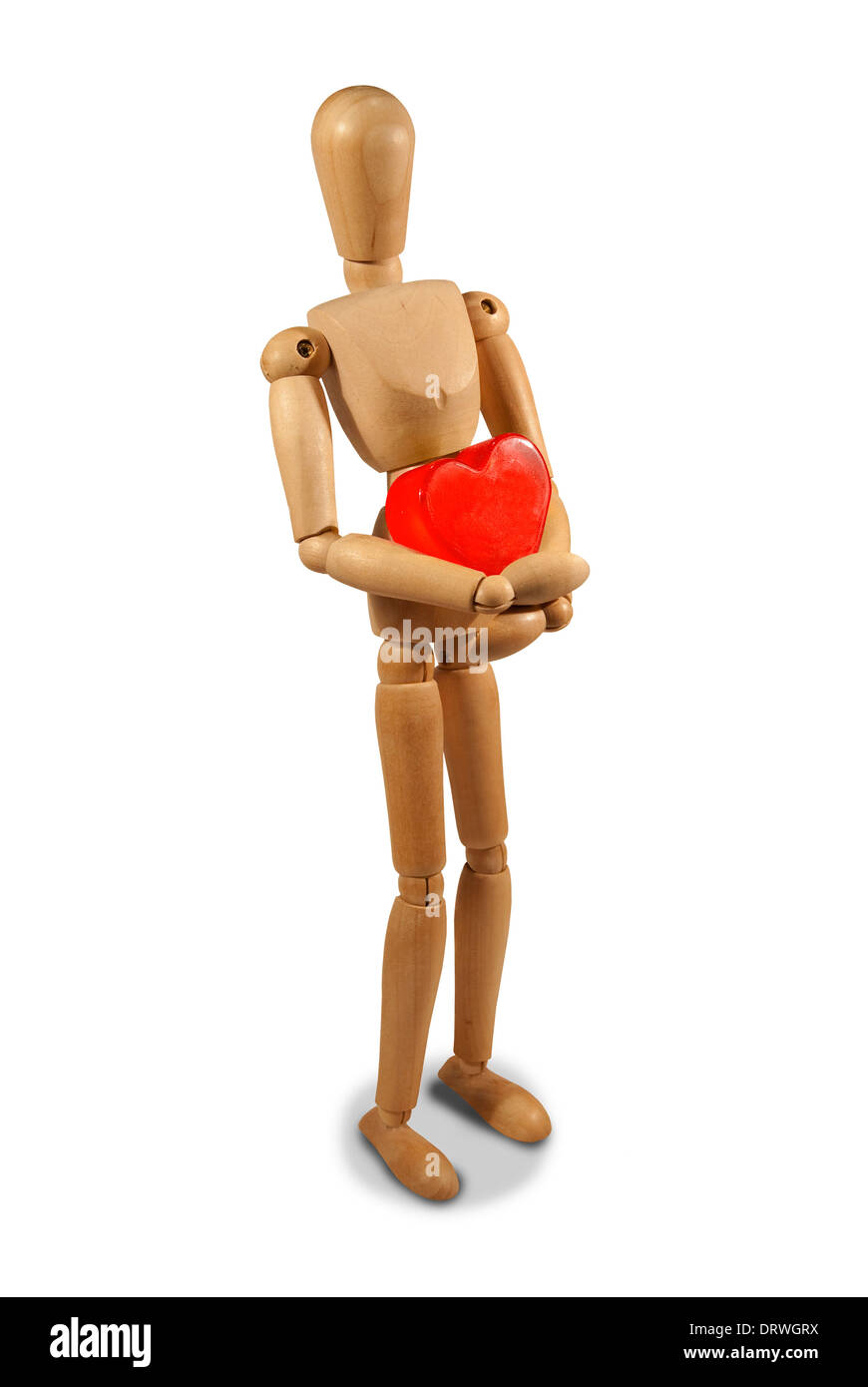 Valentine's Day, red heart, Health - Stock Image