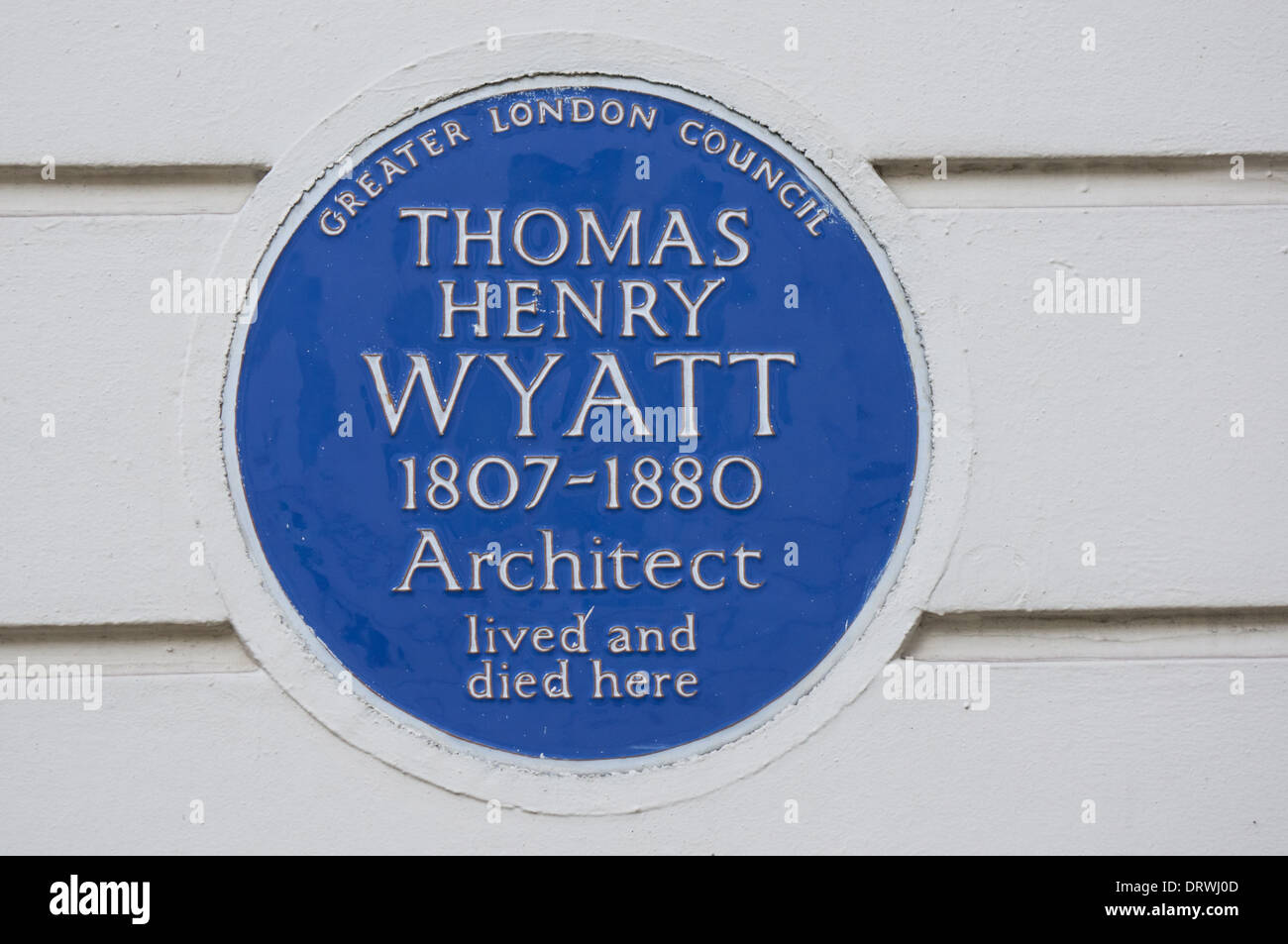 Blue Plaque of Thomas Henry Wyatt, London England United Kingdom UK - Stock Image