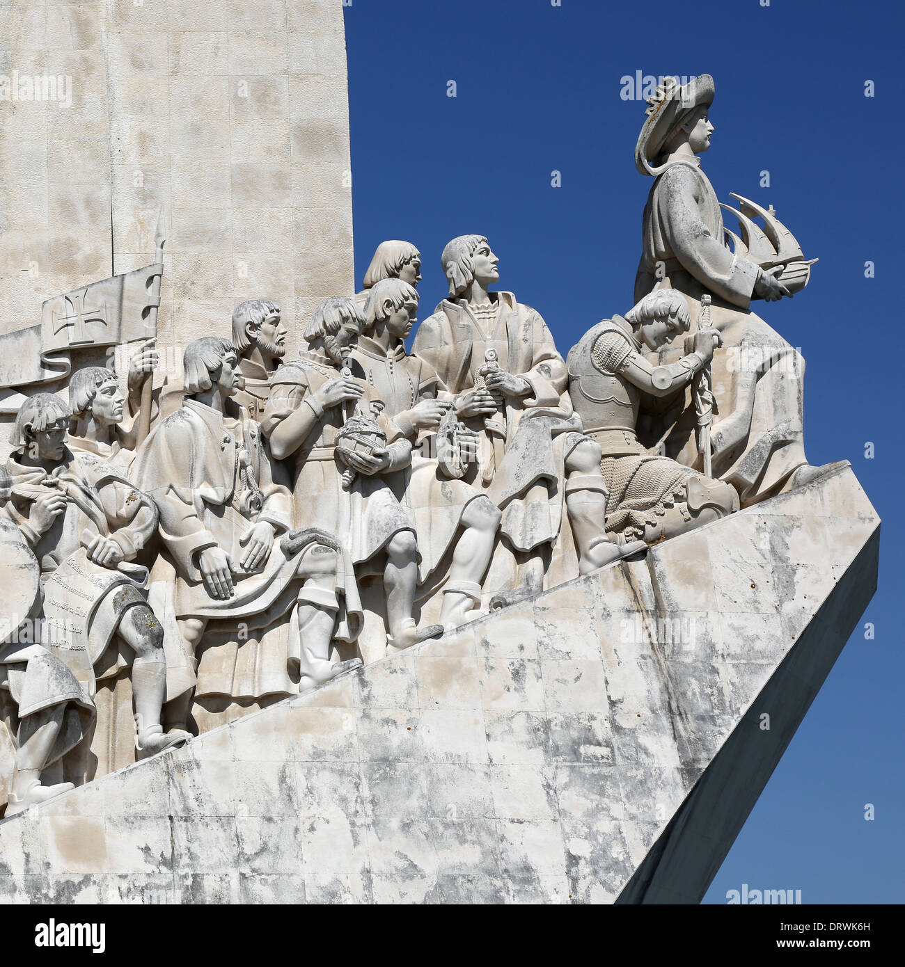 Memorial for the discoverers in Belem in Lisbon Portugal - Stock Image