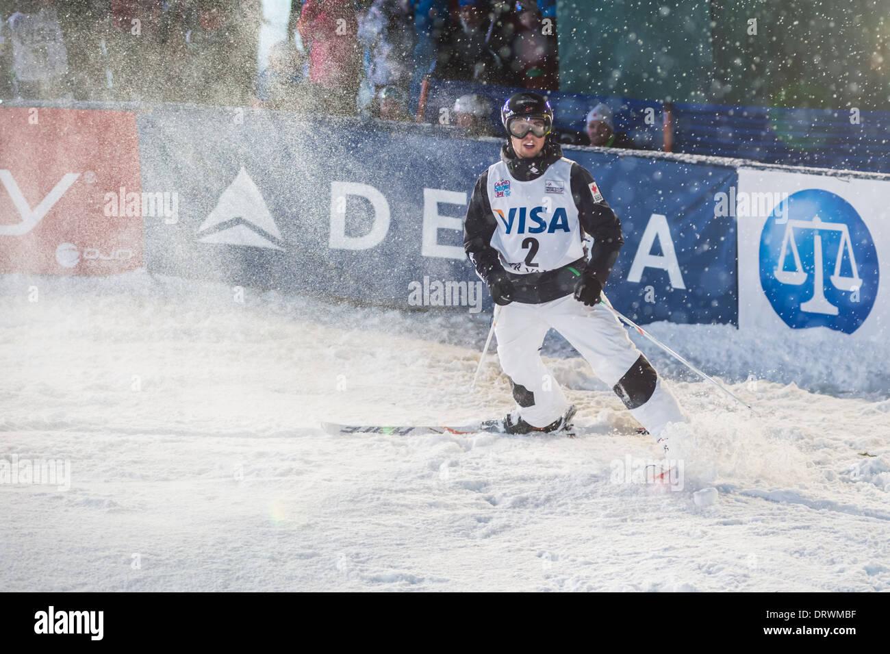 Alex Bilodeau Podiums at 2014 FIS Freeski World Cup 2, Moguls, Deer