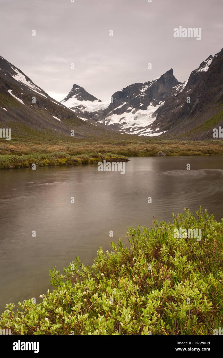 Landscape in Ringsdalen, Jotunheimen, Norway. - Stock Image