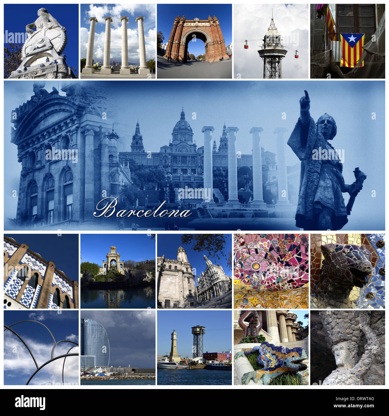 Highlights of Barcelona,collage - Stock Image