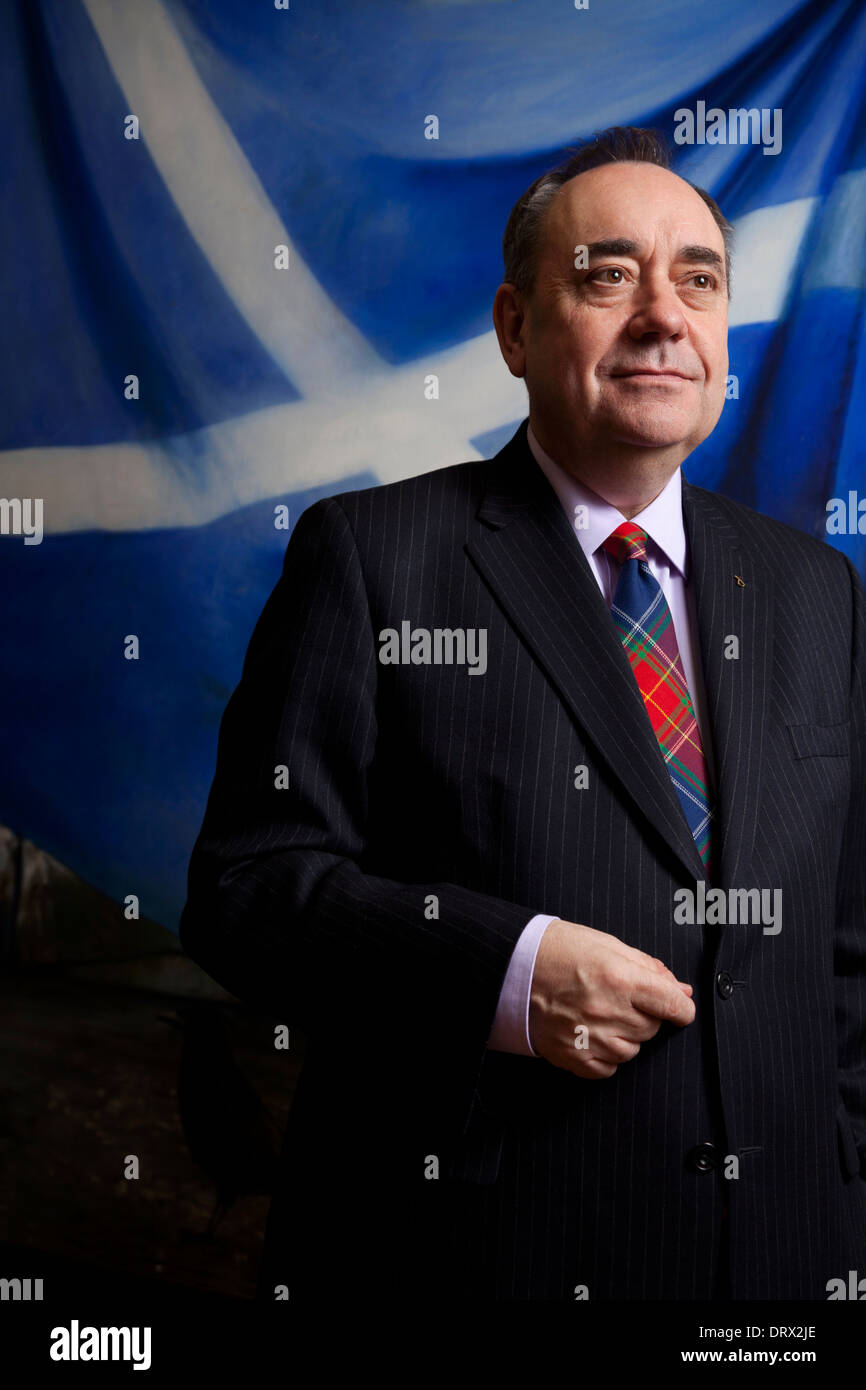 First Minister Alex Salmond MSP in his office at the Scottish Parliament - Stock Image