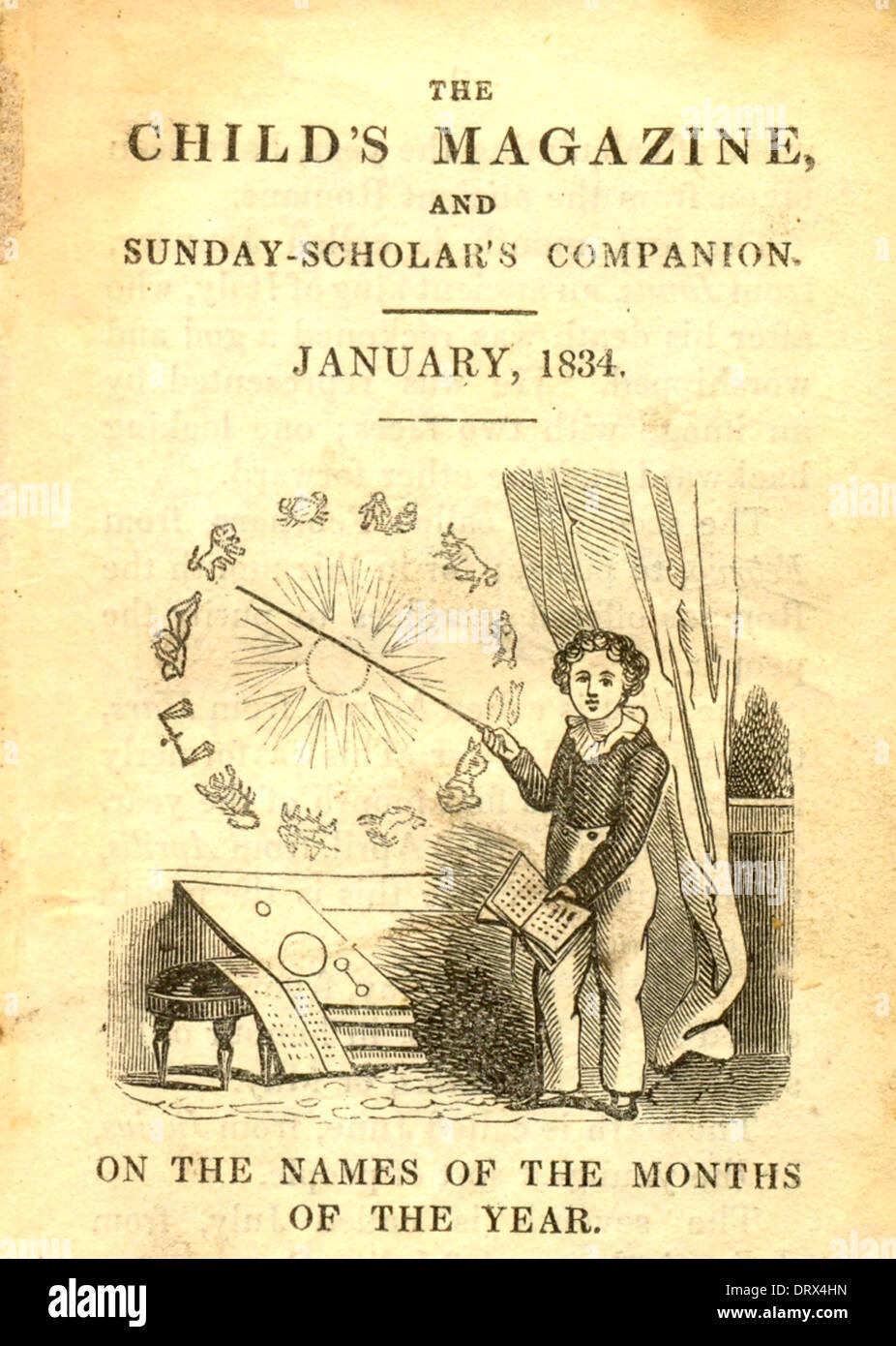 The Child's Magazine and Sunday-Scholar's Companion - Stock Image