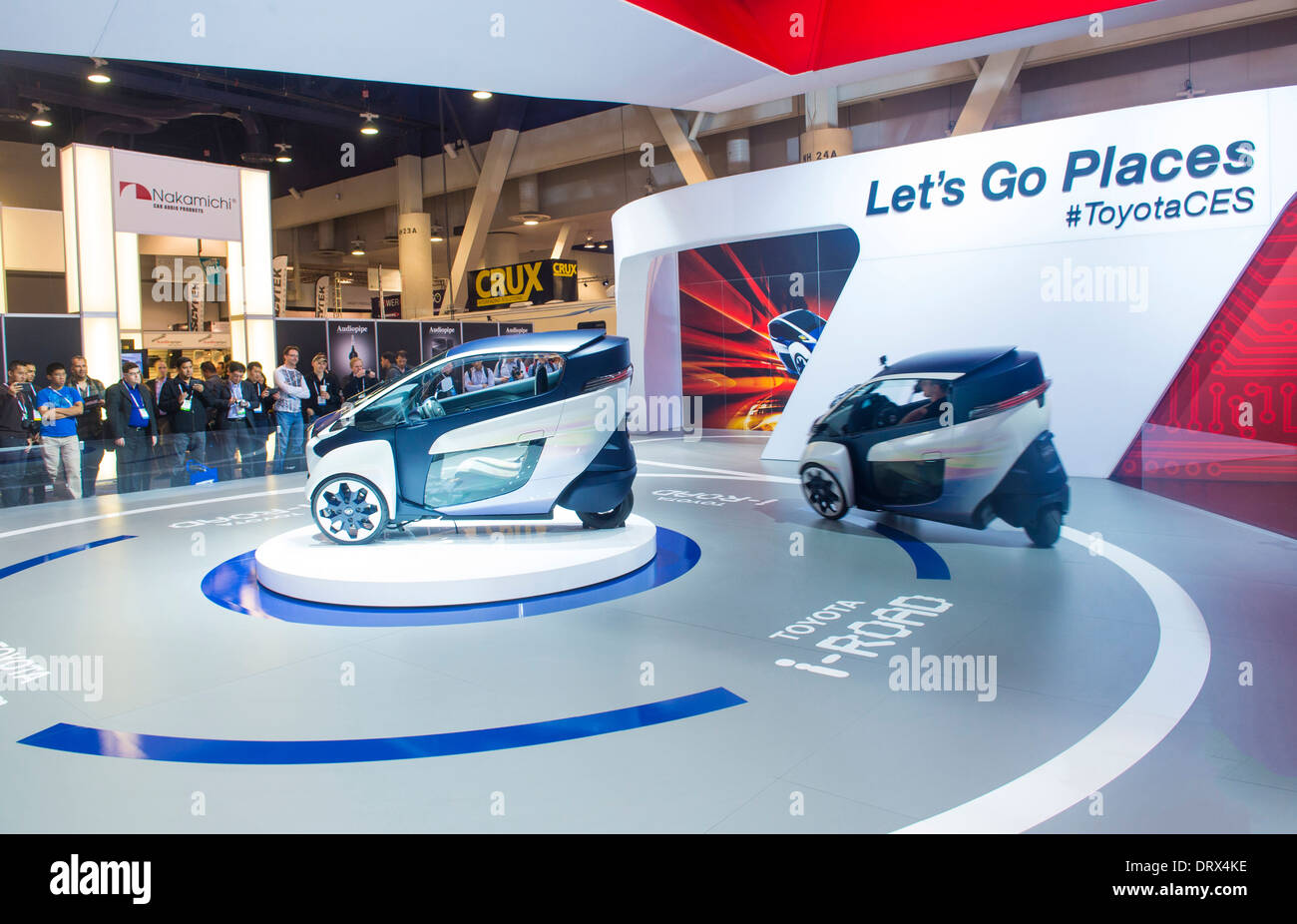 Las Vegas Toyota >> The Toyota Booth At The Ces Show In Las Vegas Stock Photo