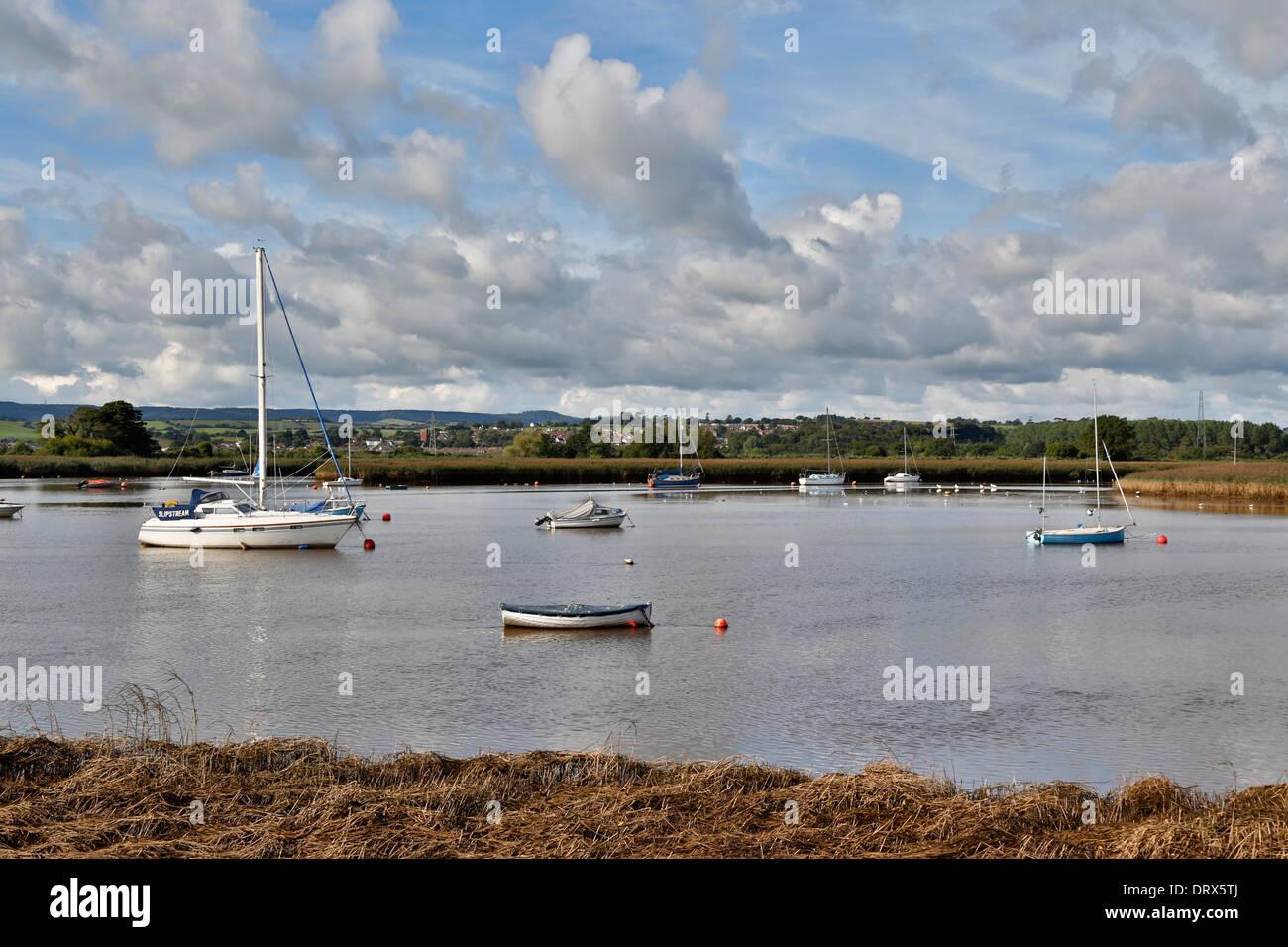 Topsham; River Exe; Devon; UK - Stock Image