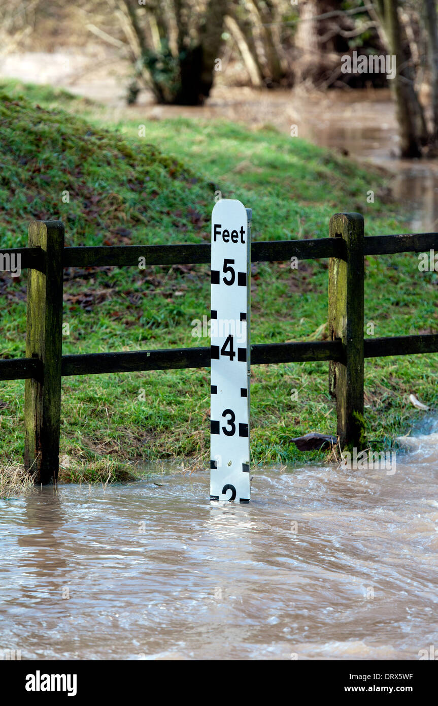 North Point Ford >> Flood Water Marker Stock Photos & Flood Water Marker Stock Images - Alamy