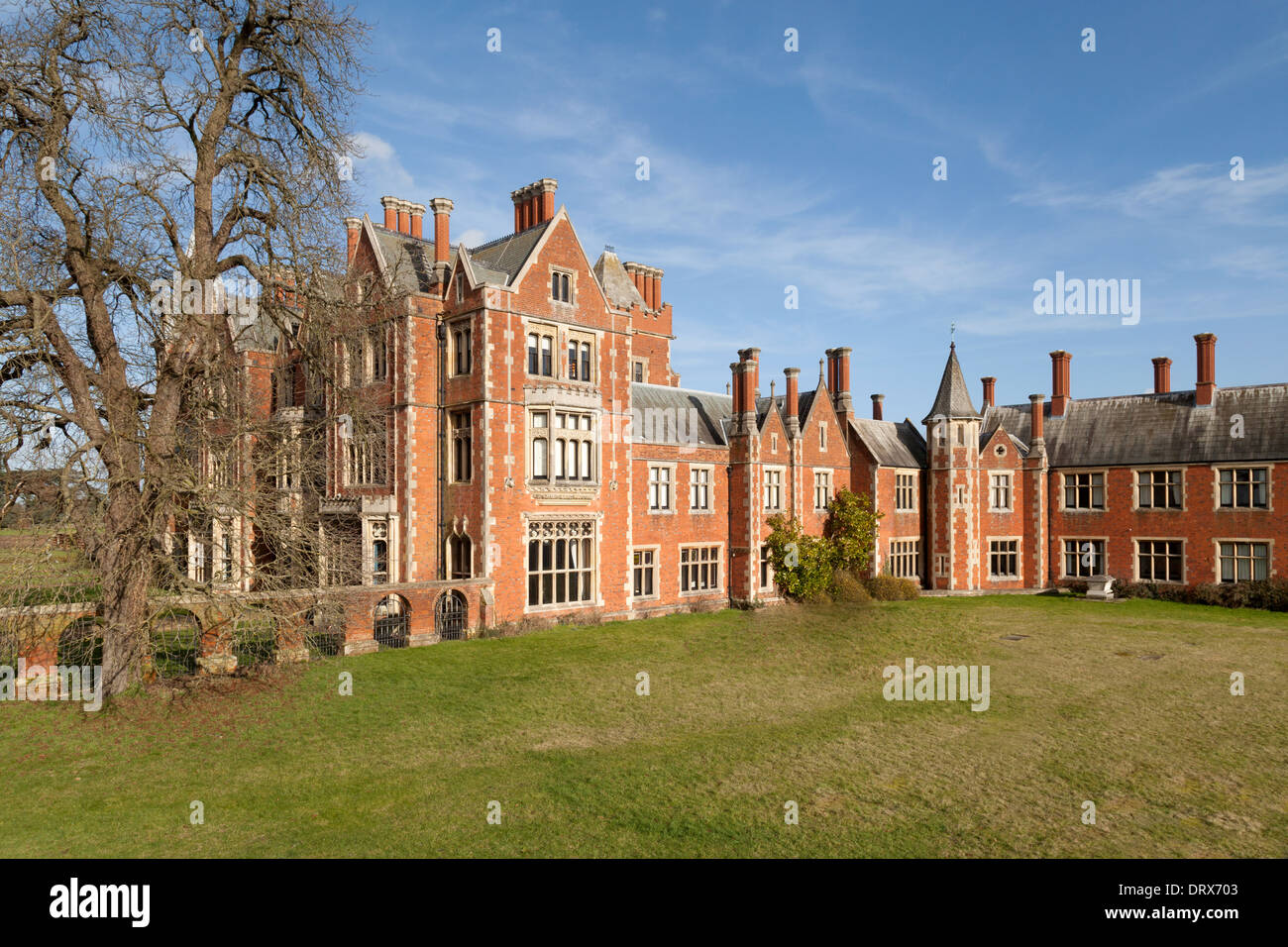 Taplow Court a large Victorian house Taplow Buckinghamshire Stock